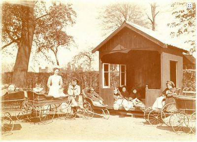 The Play House in the grounds of Cromwell House, Highgate, London c1890