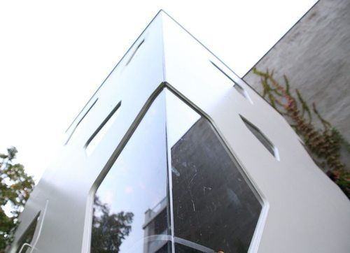 Wooden playhouse with design