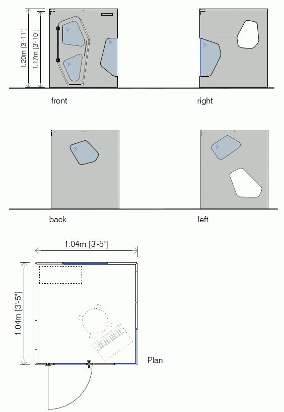 Indoor playhouse drawings