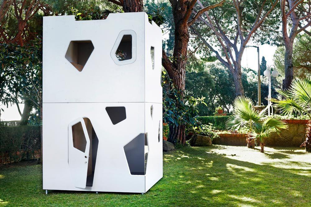 Holz spielhaus smartplayhouse modern luxury - Casetas para ninos ...