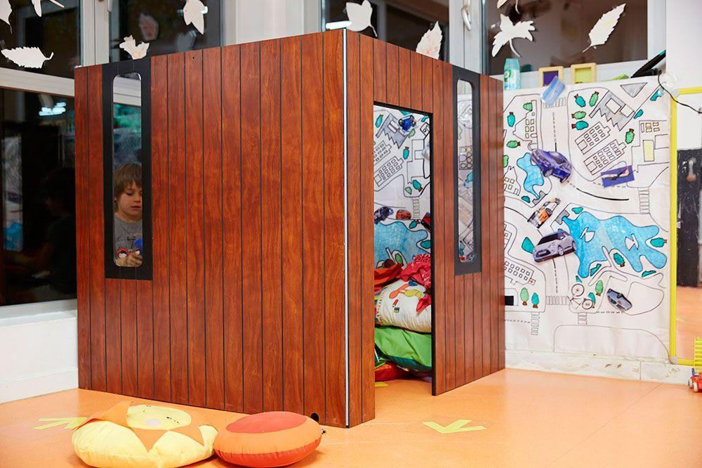 Maisonnette pour enfants Hobikken 2 murs en bois