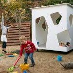 Kindergarden playhouse in the patio