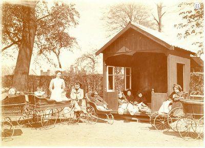 Maisonnette de jardin dans l'hopital de Londres