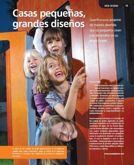 Revista de México con casitas para niños