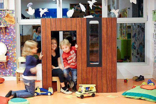 Casita de madera interior Hobikken vista frontal