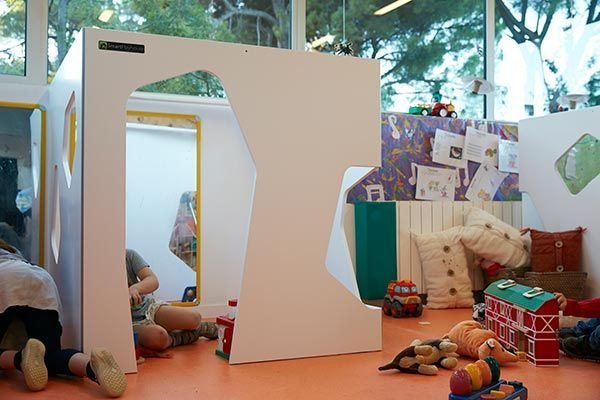 Indoor cubby house with games