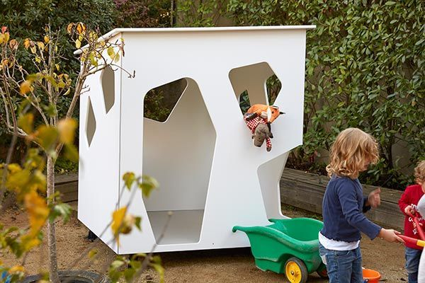Modern cubby house in a garden
