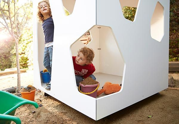 Modern cubby house for playing