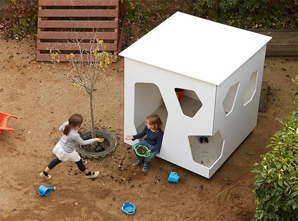 Modern cubby house for outdoor