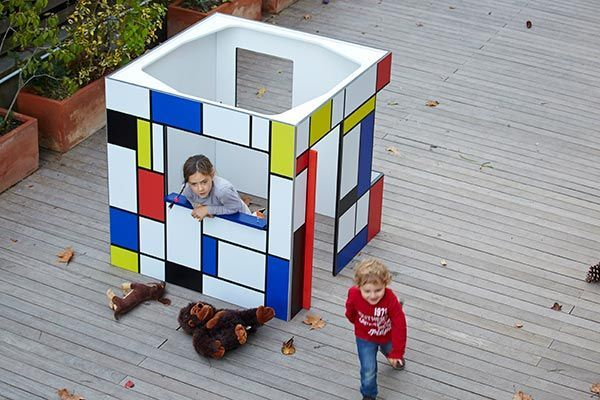 Modern playhouse for kindergarten