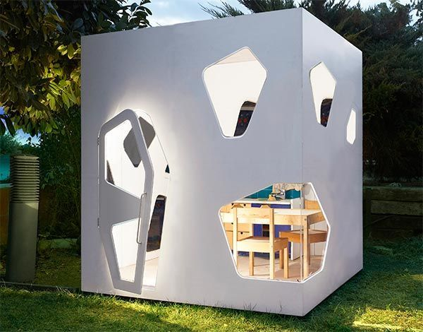 Outdoor playhouse with light