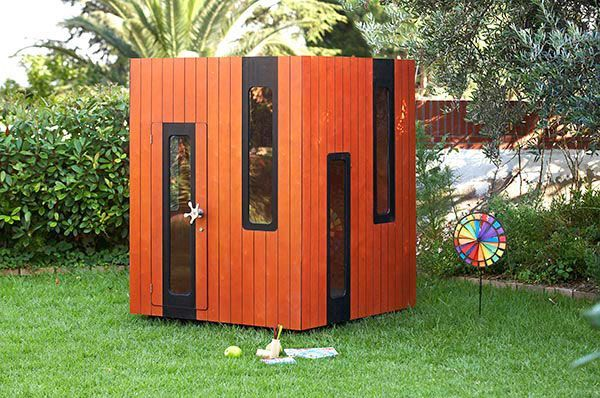 Wooden playhouse for terrace